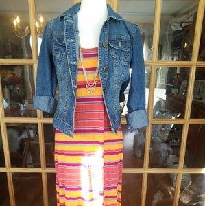 Cynthia Rowley Multi-Stripe Maxi Dress